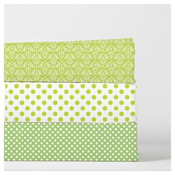Green Baby Bedding | Crib Fitted Sheet