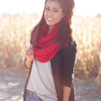 MDIGNUP Waffle Knit Infinity Scarf