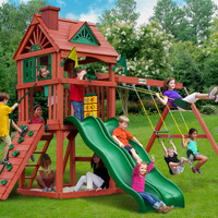 Gorilla Playsets Double Down Wooden Swing Set