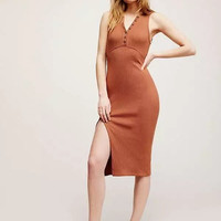 2017 Women Bodycon Sleeveless Casual Beach Dress [10497208911]