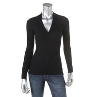 INC Womens Petites Knit Faux Wrap Pullover Sweater