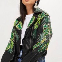 Jungle Embellished Jacket | Topshop