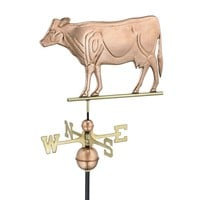 SheilaShrubs.com: Dairy Cow Weathervane - Polished Copper 552P by Good Directions: Weathervanes