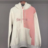 Supreme Woman Men Retro Hoodie Top Sweater Pullover