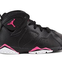 Nike Air Jordan Toddlers Retro 7 Basketball Shoes Black/Hyper Pink