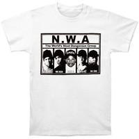 N.W.A. Men's  Most Dangerous T-shirt White
