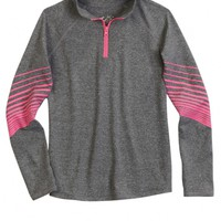 ATHLETIC HALF-ZIP PULLOVER | GIRLS FASHION TOPS TOPS | SHOP JUSTICE