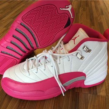 "Air Jordan 12 GS ""Dynamic Pink"" Shoe 36-40"