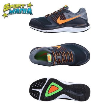 """Ready Stock"" NIKE DUAL FUSION X1 ""Grey&Orange"" Men Sport Running shoes"
