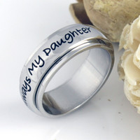 Promise Ring Always My Daughter Best Purity Ring Family Infinity Daughter Ring, Mother Daughter Forever