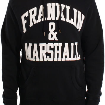 Franklin & Marshall AW15 Arch Logo Print Popover Sweat Hoodie