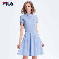 FILA Polo Fashion Casual Pure Cotton Show Thin Short Sleeve Dress G-G-JGYF