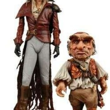 "Neca Labyrinth Jareth and Hoggle 7"" Action Figure 2 Pack"