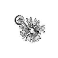 BodyJ4You Stud Earring CZ Tragus Crystal Clear 16G Stainless Steel Piercing Jewelry