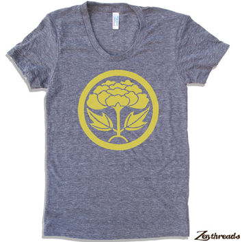 Womens LOTUS Flower LOGO T Shirt tee american apparel S M L XL (17 Colors Available)