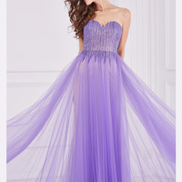 Angela & Alison 61029 Beaded Bodice Formal Prom Gown