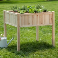 Coral Coast Simply Grow Cedar Raised Patio Planter | www.hayneedle.com