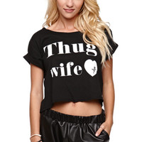 Young & Reckless Thug Wife Cropped Tee at PacSun.com