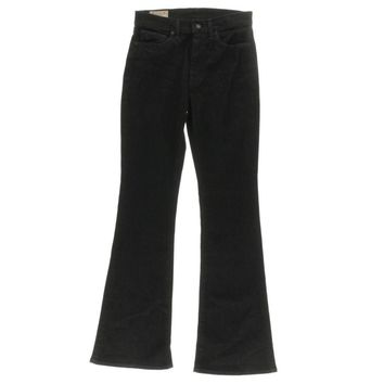 Polo Ralph Lauren Womens Black Wash Classic Rise Flare Jeans