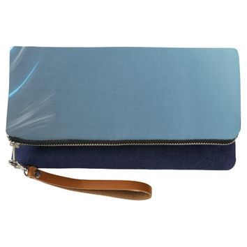 Swirl Blues Clutch