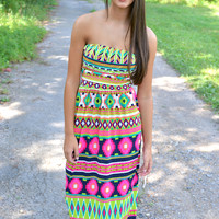 Houston Hottie Aztec Maxi Dress