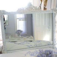 Mirror shabby chic furniture home decor by backporchco on Etsy