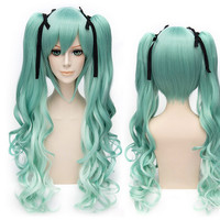 Pastel Green Cosplay Hatsune Miku Curl Wig 80cm SP152573