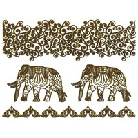 Metallic Elephant Temporary Tattoo Pack 254606442 | Hair & Skin