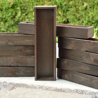 "24"" Rustic Wood Box or Planter-Great for Thanksgiving, Christmas or Wedding Centerpieces also Succulent Gardens"