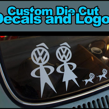 "Personalized Custom Die Cut Vinyl Decals and Logos 6"" x 6"""