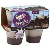 Snack Pack Chocolate Cupcake Pudding, 3.25oz Cups, 2pks of 4 Cups