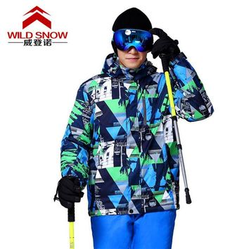 New Outdoor Sports Wear Thermal Ski Jackets Thermal Full Sleeve Hooded Clothing Waterproof Windproof Snowboarding Jackets