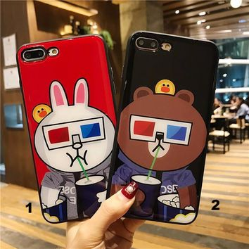The friends watching 3D-MAX Glass texture mobile phone case for iPhone X 7 7plus 8 8plus iPhone6 6s plus -171212
