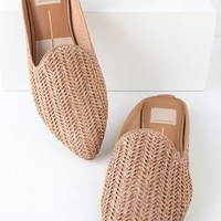 Grant Natural Raffia Woven Loafer Slides