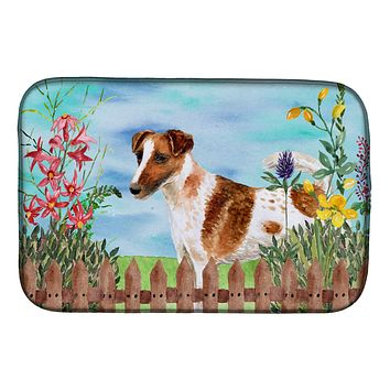 Smooth Fox Terrier Spring Dish Drying Mat CK1209DDM