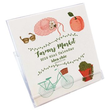 2019 Farmers Market Mini Desk Calendar