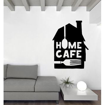Unique Gift Vinyl Wall Decal Quote Words with Folk and Spoon Home Cafe Interior Decor n1133