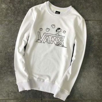 Gotopfashion Vans : Cute Snoopy cartoon print couple pullover hoody sweater H-YF-MLBKS