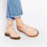 Bronx Nude Brogue Flat Shoes