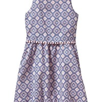 Old Navy Girls Diamond Print Tiered Dresses