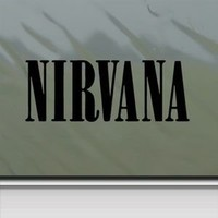 Nirvana Black Sticker Decal Grunge Kurt Cobain Black Car Window Wall Macbook Notebook Laptop Sticker Decal