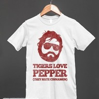 Tigers Love Pepper-Unisex White T-Shirt