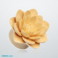 Water Lily Crocodile Wood Double Flared Plug