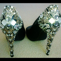 Butterfly Heels Size 6 8 and 9 by meganannear on Etsy