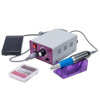 ONETOW CO-Z Professional Electric Nail Drill Machine Kit for Acrylic Manicure Pedicure (purple)