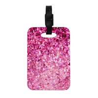"Ebi Emporium ""Romance Me"" Pink Glitter Decorative Luggage Tag"