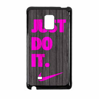 Nike Just Do It Wood Colored Darkwood Wooden Pink Samsung Galaxy Note Edge Case