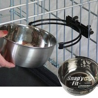 Midwest Homes for Pets Stainless Steel Snap'y Fit Water & Feed Bowl