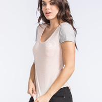 Roxy Oceanside Way Womens Pocket Tee Light Pink  In Sizes