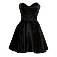 Vintage Inspired Silk 50s Style Little Black Dress